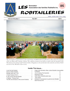 Robitailleries No 85, in English