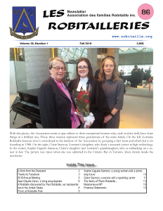 Cover Page of Les Robitailleries #86