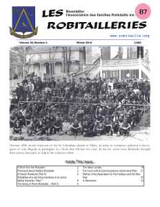 Cover Page of Les Robitailleries #87
