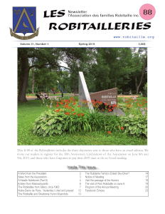 Cover Page of Les Robitailleries #88
