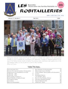 Cover Page of Les Robitailleries #89