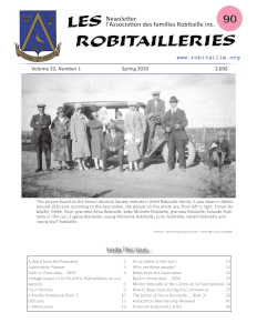 Cover Page of Les Robitailleries #90